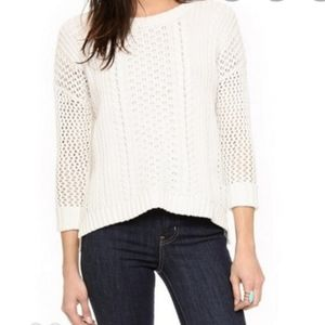 Madewell Cable Knit Airy Plaza Sweater Small